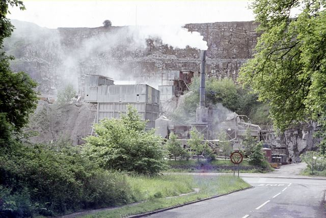 Wimpey Darlton Limestone Quarry, Stoney Middleton, c 1980s