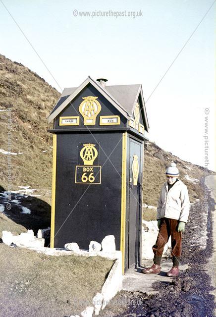 AA Telephone Box 66 ('Snake Box'), Snake Pass, c 1980s