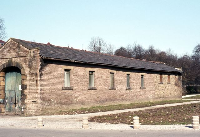 East Side of Transit Shed, Peak Forest Railway, Whaley Bridge, 1975