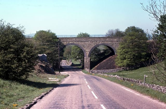 Bridge Carrying Cromford and High Peak Railway at Hartington Station, 1977