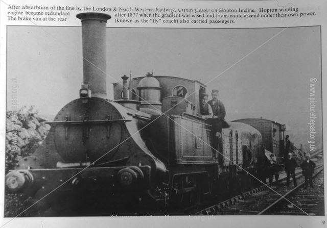 Cromford and High Peak Railway, Hopton Incline, Nr Middleton, c 1880s-90s