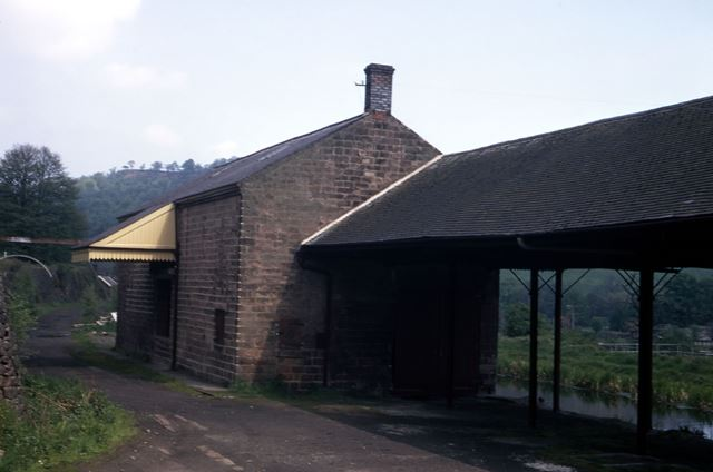 Wharf and Transit Shed, Cromford Canal, Lea, 1972