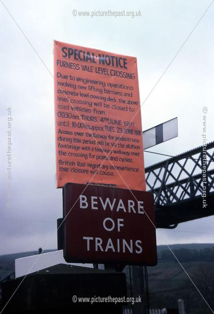 Furness Vale Railway Station Level Crossing Amendment of Modernisation, Station Road, Furness Vale,