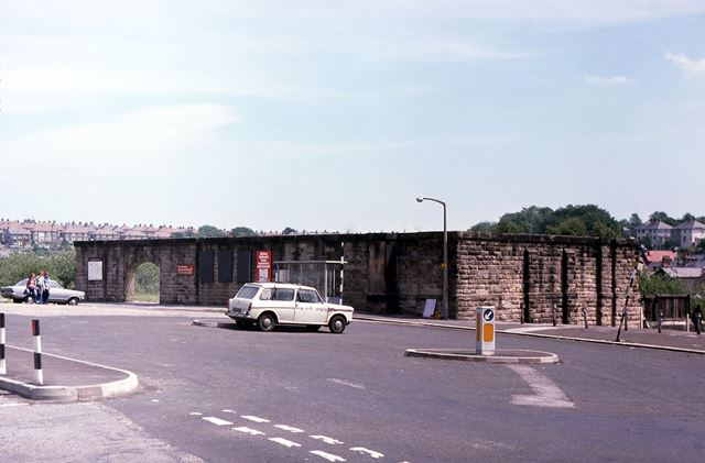 Remains of Midland Railway Station, Station Road, Buxton, 1977