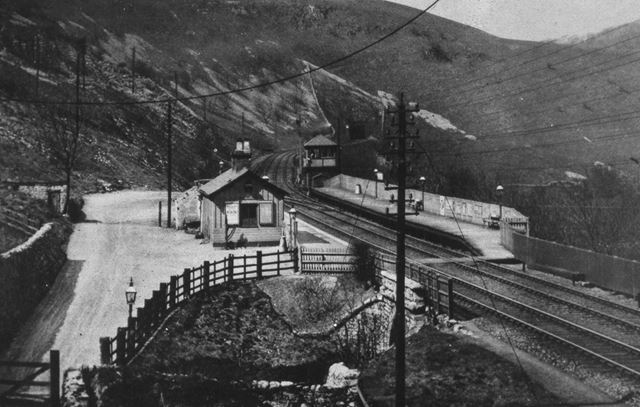 Monsal Dale Station, Looking West, 1911