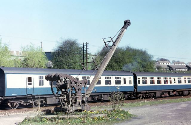 1903 Crane on the Sheffield Line, New Mills, 1980