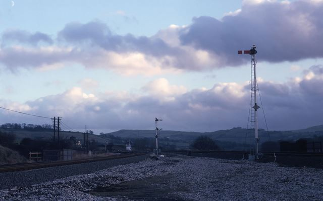 Convergence of Manchester and Sheffield Lines at New Mills, 1980