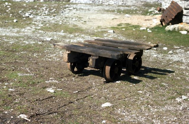 Trolley at Magpie Mine, Sheldon, 1976