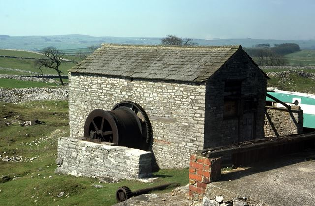 Horizontal Steam Winching Engine House and Drum, Magpie Mine, Sheldon, 1976