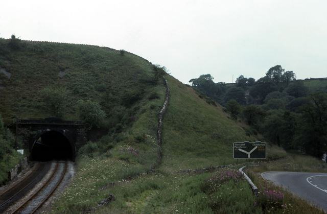 Buxton Line Alongside Peak Forest Tramway, Higher Halsteads, Dove Holes, 1976