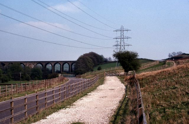 Re-aligned Peak Forest Tramway, Chapel Milton, 1990