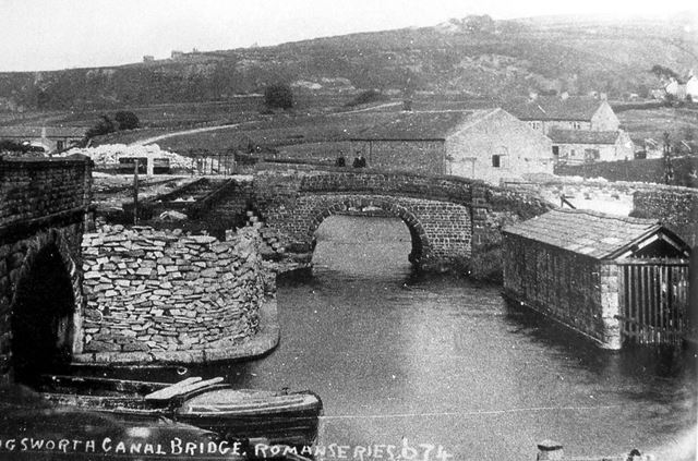 Tramway Lines and Wharf, Peak Forest Canal, Bugsworth, 1900s ?