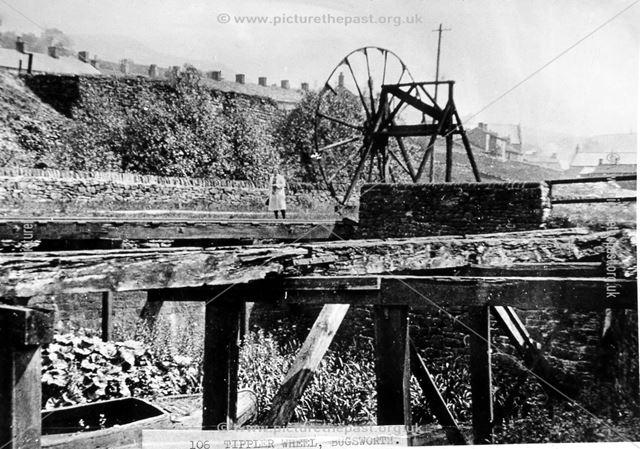 Tippler Wheel, Lower Basin, Peak Forest Canal, Bugsworth, 1920s