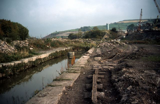 Exposed Track of Peak Forest Tramway, Bugsworth Canal, 1985