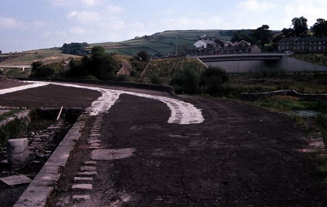 Renovated Track Bed of Peak Forest Canal, Bugsworth, 1990
