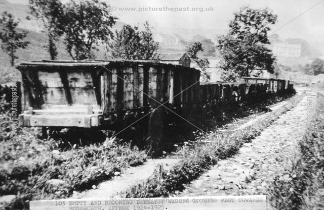 Peak Forest Tramway Wagons, Peak Forest, c 1925
