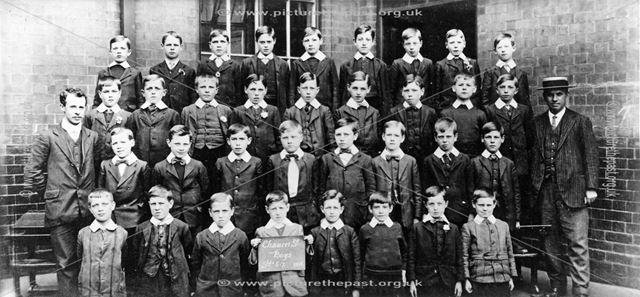 Class of Standard 6-7, Chaucer Street School, Lower Chapel Street, Ilkeston, 1914