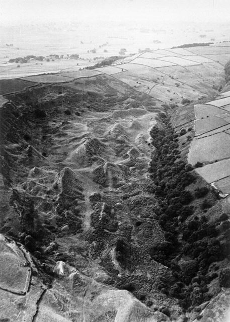 Landslips from Hucklow, Bretton Clough, Abney