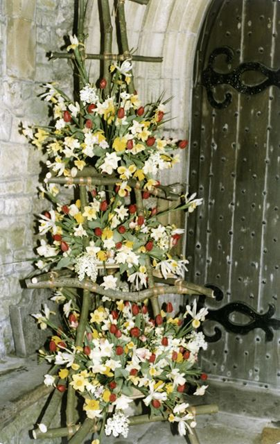 Flower Festival at St Michael and All Angels Church, Taddington, 1987