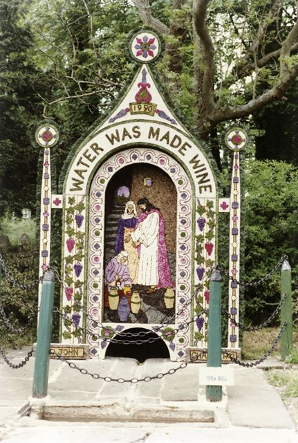 Well dressing, 'Town Well', Tissington, 1990