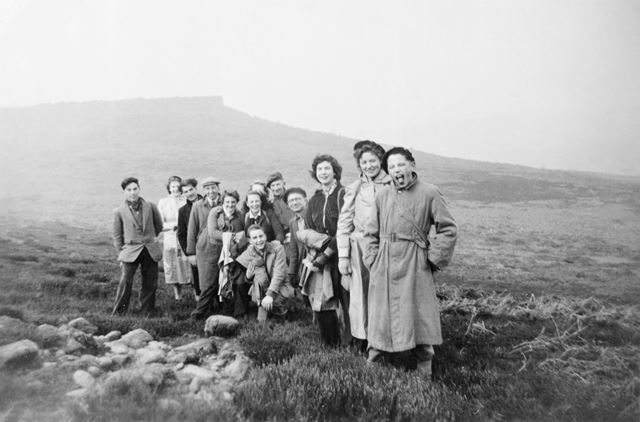 Church Members at Kinder Scout, Edale, 1960s