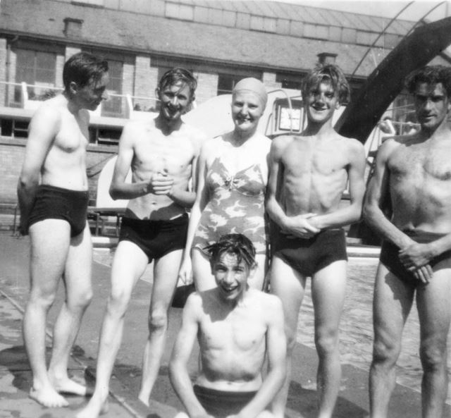 Swimming outing of Church Members Camping at Kinder Scout, Edale, 1960s