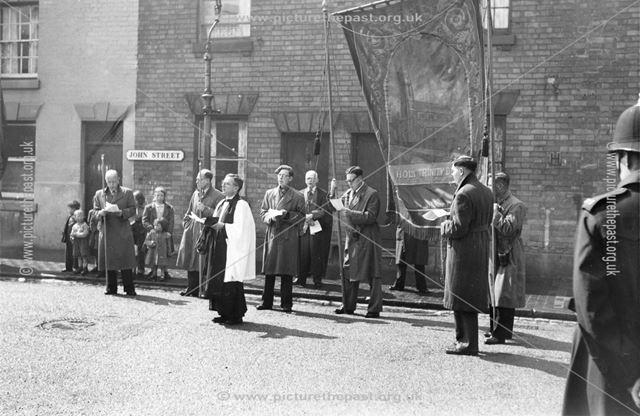 Holy Trinity Church Parade (Whitsun Tide?), Hope Street, Derby, 1953-56