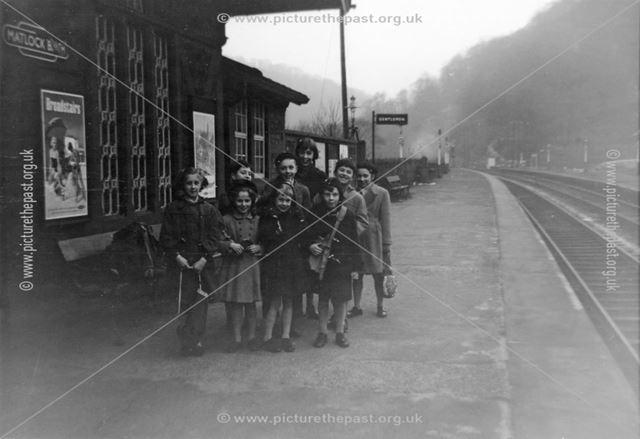 Group of Children on Railway Platform, Railway Station, Matlock Bath, 1950s