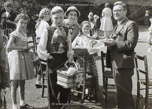 Rev H E Brown Attedning Church Garden Party, Derby Road, Matlock Bath, 1960s