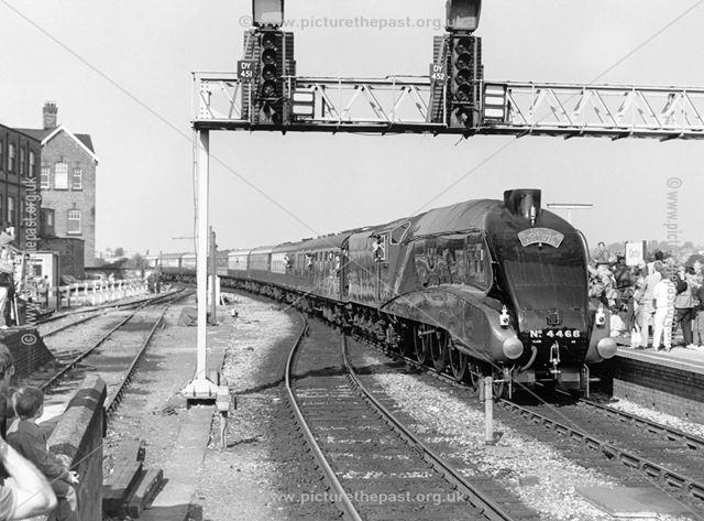 Steam Loco The Mallard, Midland Railway Station, Railway Terrace, Derby, 1986