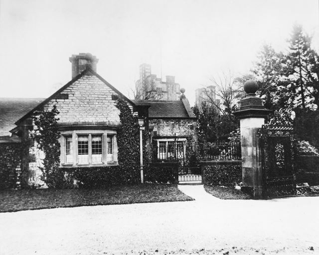 Lodge, Thornbridge Hall, Great Longstone, c 1900