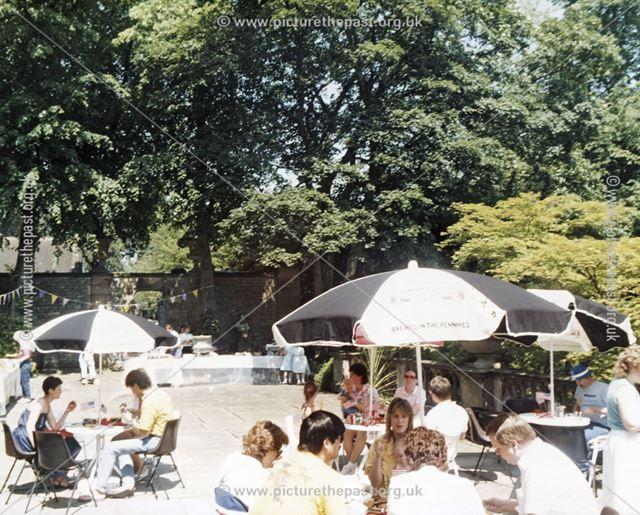 Dining at Thornbridge Hall, Great Longstone, c 1970s