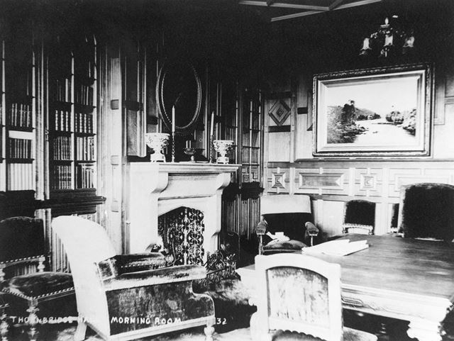 Morning Room, Thornbridge Hall, Great Longstone, c 1930s?