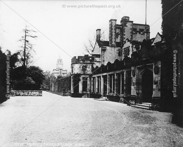 Driveway, Thornbridge Hall, Great Longstone, c 1930s?