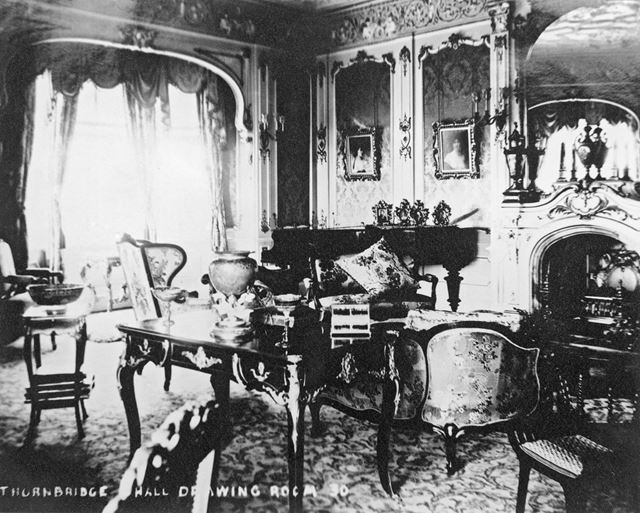 Drawing Room, Thornbridge Hall, Great Longstone, c 1930s?