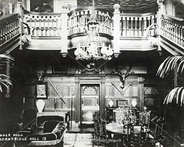 Inner Hall, Thornbridge Hall, Great Longstone, c 1930s