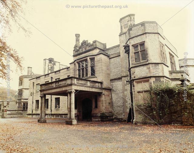 Entrance, Thornbridge Hall, Great Longstone, 1984