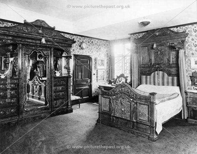 Bedroom, Thornbridge Hall, Great Longstone, c 1930s?