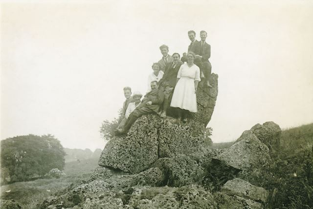 Brackenbury Family on the Rocks at Winster, 1921