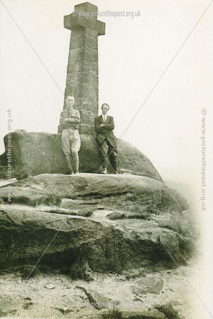 Albert Berwick and Brother-in-Law, Wellington Cross, Baslow, 1921
