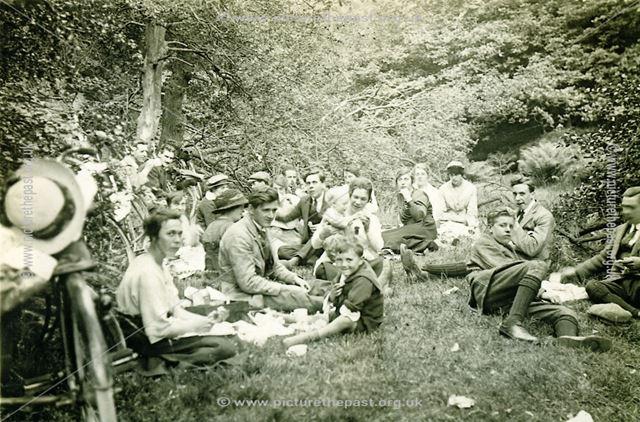 Cycling Club Picnic at Ladybower, Bamford, 1921