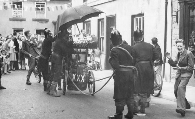 Fire Brigade Entry at the Carnival, Matlock Street, Bakewell, 1948