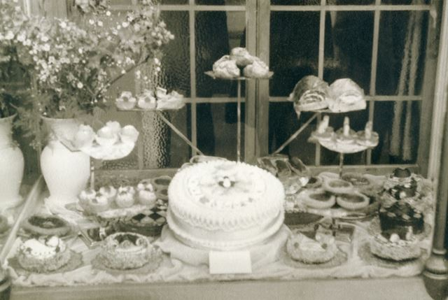 Bloomers Confectionary Shop Window Display for Carnival, Water Lane, Bakewell, 1950