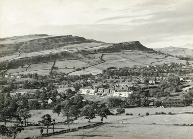 View of Chinley from Eccles Lane, Chinley, 1960s
