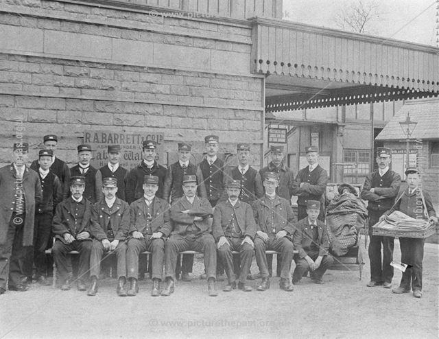 Railway Staff, Chinley Railway Station, Cracken Close, Chinley, 1902