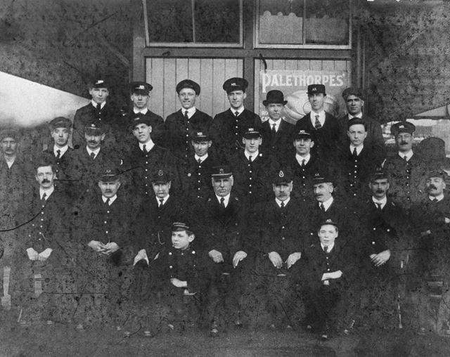Platform Staff, Chinley Railway Station, Cracken Close, Chinley, c 1923-24