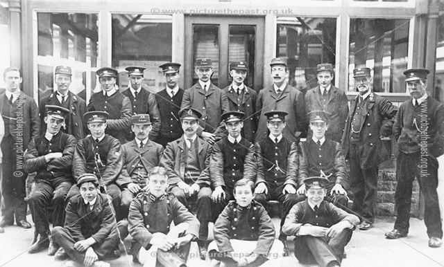 Platform Staff, Chinley Railway Station, Cracken Close, Chinley, c 1930s