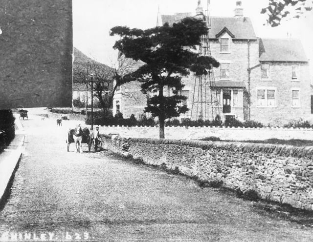 The New Princes Hotel and Green Lane, Chinley, c 1902-1910s