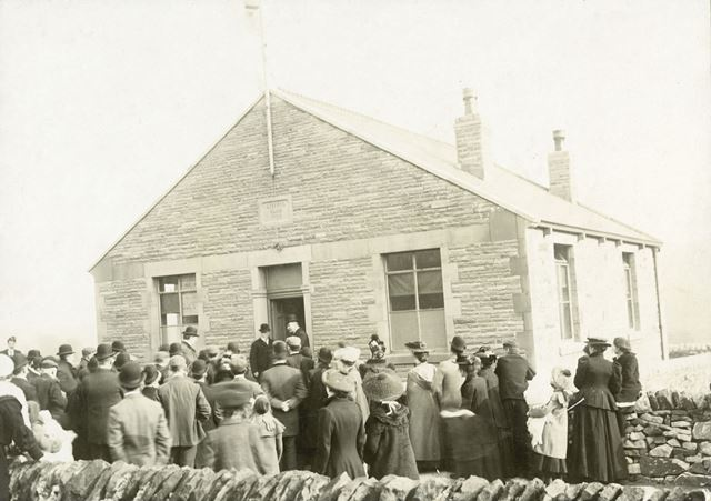 Opening of the Liberal Club, Lower Lane, Chinley, 1904