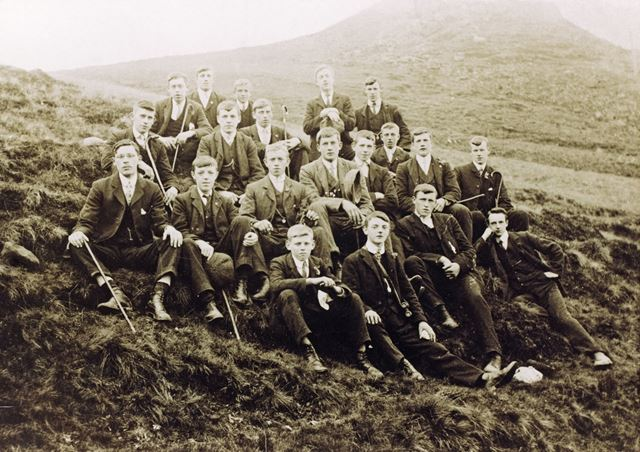 Lads Club Pictured on way to Edale, Chinley, 1906